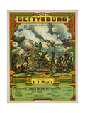 Center Sam DeVincent Collection 0300 E.T. Paull 530D Battle of Gettysburg; 1917; Center Giclee Print