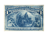 National Postal Museum: 1-Cent Columbus in Sight of Land Stamp Giclee Print