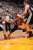 Miami, FL - JUNE 6 Chris Bosh, Tony Parker and Tiago Splitter Photographic Print