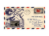 "Air and Space: ""Pan-Pacific First Flight"" First Day Cover Giclee Print"