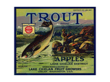 Warshaw Collection of Business Americana Food; Fruit Crate Labels, Lake Chelan Fruit Growers Impression giclée