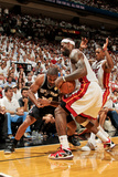 Miami, FL - JUNE 9 LeBron James and Gary Neal Photographic Print