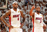 Miami, FL - JUNE 6 LeBron James and Dwyane Wade Photographic Print