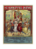 "Sheet Music Covers: ""The Carnival King"" Composed by Ralph K. Elicker and Arranged by E. T. Paull Giclee Print"