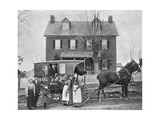 Smithsonian Libraries: Western Rural Postal Wagon Route – Delivering Mail, 1899. Giclee Print