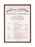 Illustrated American Sheet Music, Geography Sub Series, Ephemera Wings of a Century Giclee Print