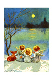3 Angels and a Deer Looking Across Water at the Moon, National Museum of American History Giclee Print