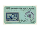 National Postal Museum: Federal Migratory-Bird Hunting Certificate and Stamp Giclee Print
