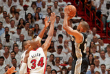Miami, FL - JUNE 6 Gary Neal and Ray Allen Photographic Print