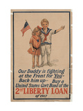 Center Warshaw Collection, Liberty Loan Poster Encouraging Purchase of U.S. Government Bonds Giclee Print
