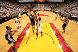 Miami, FL - JUNE 9 Tiago Splitter and Chris Bosh Photographic Print