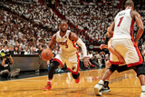 Miami, FL - JUNE 9 Dwyane Wade, Chris Bosh and Manu Ginobili Photographic Print