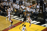 Miami, FL - JUNE 9 Tim Duncan and LeBron James Photographic Print