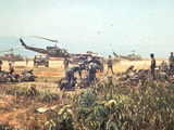 Air and Space: Bell HU-1As in Vietnam Photographic Print