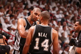 Miami, FL - JUNE 6 Tim Duncan and Gary Neal Photographic Print