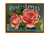 Fruit Crate Labels: Rose Brand Apples; Wenatchee Produce Company Giclee Print