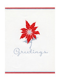 Greeting Card - Poinsettia, National Museum of American History Giclee Print