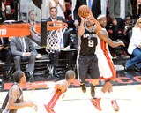 Miami, FL - JUNE 6 Tony Parker and LeBron James Photographic Print