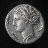 Ancient Greek Silver Coin (Dekadrachm), circa 400 BCE; National Museum of American History Photographic Print