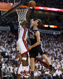 Miami, FL - JUNE 9 LeBron James and Tiago Splitter Photo