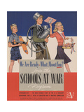 Center Warshaw Collection, WE ARE READY WHAT ABOUT YOU Join the SCHOOLS AT WAR Program Giclee Print