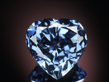 Blue Heart Diamond Photographic Print