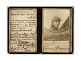 Air and Space: Laura Bromwell Pilot License Photographic Print