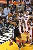 Miami, FL - JUNE 6 LeBron James, Chris Andersen and Tim Duncan Photographic Print