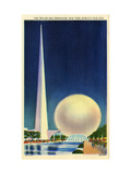 The Trylon and Perisphere New York World's Fair 1939 Giclee Print