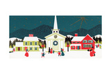 Greeting Card - Village Scene with Church, National Museum of American History Giclee Print