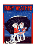 "Sheet Music Covers: ""Rainy Weather"" Music and Words by Kay Kyser and Banks Corwin, 1930 Giclee Print"