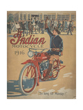 Smithsonian Libraries: Indian Motorcycle Cover Reproduction procédé giclée