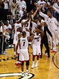 Miami, FL - JUNE 9 Chris Bosh and Mario Chalmers Photographic Print