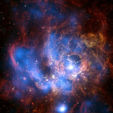 Composite Image from Chandra and Hubble Data, Divided Neighborhood of Some 200 Hot, Young Stars Photographic Print