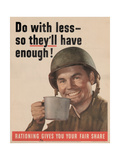Center Warshaw Collection of Business Americana, Office of War Information Rationing Poster Giclee Print