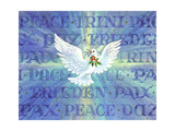 Greeting Card - Dove with the Word Peace in Different Languages Giclee Print