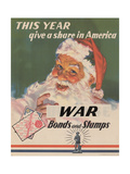 Center Warshaw Collection, U.S. Treasury Poster. Give a Share in America. WAR Bonds and Stamps Giclee Print