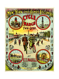 "Sheet Music Covers: ""New York and Coney Island Cycle March Two-Step"" Music  Giclee Print"