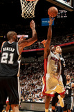 Miami, FL - JUNE 9 Mario Chalmers, Danny Green and Tim Duncan Photographic Print