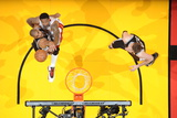 Miami, FL - JUNE 9 Tim Duncan and Udonis Haslem Photographic Print