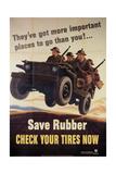 War Information poster, Save Rubber, National Museum of American History, Archives Center Digitálně vytištěná reprodukce