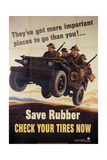 War Information poster, Save Rubber, National Museum of American History, Archives Center - Giclee Baskı