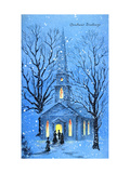 Greeting Card - Churches, Christmas Greetings, National Museum of American History Giclee Print