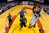 Miami, FL - JUNE 9 Dwyane Wade and Tiago Splitter Photographic Print