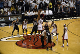 Miami, FL - JUNE 9 Chris Bosh and Tim Duncan Photographic Print