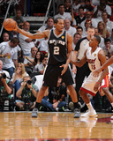 Miami, FL - JUNE 9 Kawhi Leonard and Mario Chalmers Photographic Print