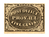 National Postal Museum: 5-Cent Providence, Rhode Island Postmaster Provisional Giclee Print