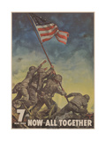 Center Warshaw Collection, Treasury Poster. 7th WAR LOAN. NOW... ALL TOGETHER Giclee Print