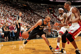 Miami, FL - JUNE 9 Tony Parker, Chris Bosh and LeBron James Photographic Print