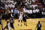 Miami, FL - JUNE 9 Udonis Haslem and Tony Parker Photographic Print